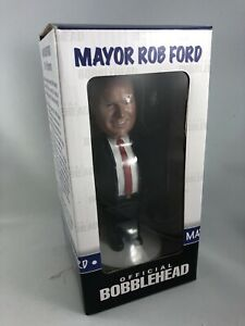 """Rare """"2nd edition"""" Rob Ford official bobble head - new in box."""