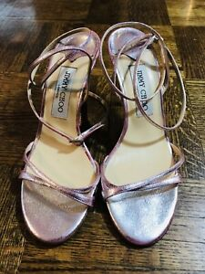 Jimmy Choo London  Pink Shiny Shoes