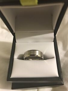 New!!Size 7 Mens 14K white gold ring from Spence Diamond Canada