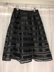 Black Striped Skirt from Luvalot   Size 8