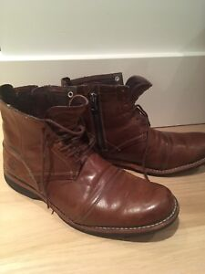 Men's leather side zip timberland city boots size 10.5