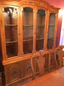 Beautiful wooden buffet and hutch