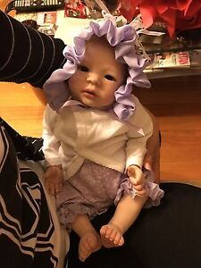 Reborn Baby Girl Doll life like vinyl doll Docklands Melbourne City Preview