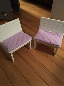 Our generation chairs, American girl size