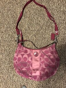 Authentic Coach Hobo Purse Sateen Pink