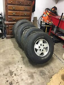Chevy truck rims with brand new tires
