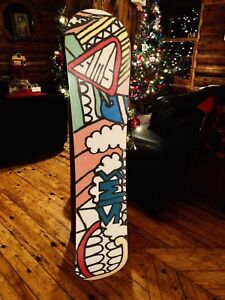 $80 Snowboard Decks and a Pair of Men's Size 10 Boots ($45).