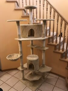Cat tree house scratching post.