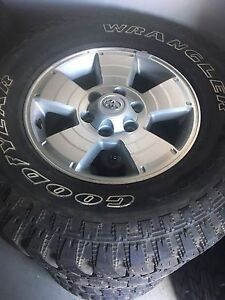 Toyota Tacoma rims with 285 70 r17 Goodyear Territory's.