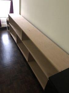 Custom Built Long Bookcase