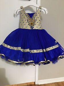 Girls 18-24 months royal blue tulle dress