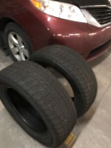 Two Bridgestone winter tires  - 235 60 17