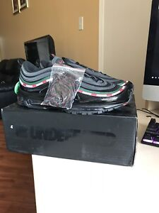 Undefeated air max 97 size 10 and air Jordan 1 top 3s