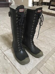 Hunter Watling Tall Lace Up Rain Boots, Men's 9 or Women's 10