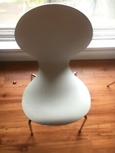 Two Modern White Dining Chairs