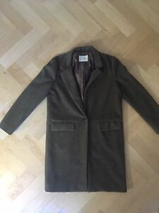 Oak and Fort coat - brown, boyfriend-style, size small