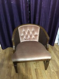 Vintage Cane back Barrel Chair