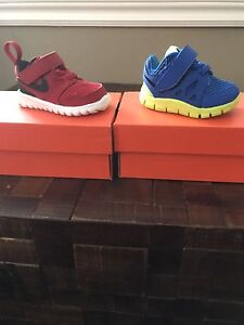 Baby Nike runners brand new in box - Red and Blue size 2c