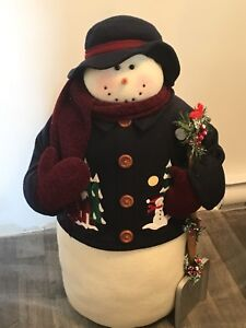 Large snowman  about 3 ft tall and sturdy.