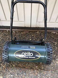 Ozito push reel mower with catcher