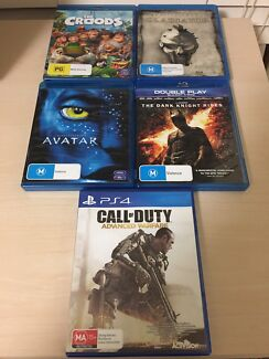 PS4 Game & BluRay DVD's