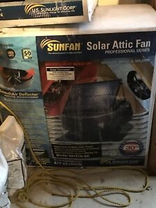 Brand new Solar attic fan