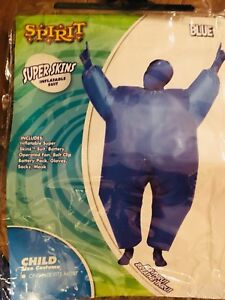 Child's blue Inflatable Superskin Suit Costume