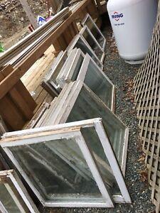Greenhouse wooden windows