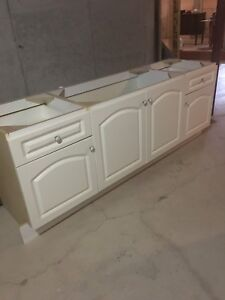 "Modern 80"" White Vanity Like New"