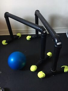 "Parallettes: Homemade + 8"" Exercise Ball"