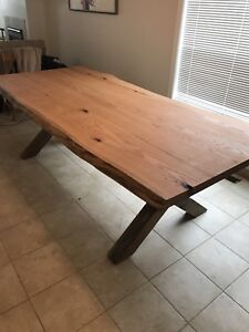 Red Oak Live Edge Dining Room Table