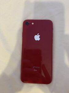 Cracked Product Red iPhone 8 64GB with cases