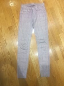 Pink snake print authentic Hundson jeans