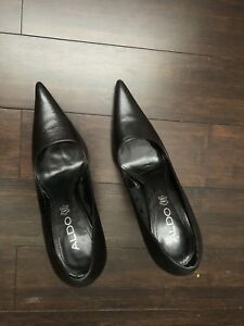Size 5 also black leather heels