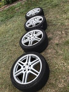 """GENUINE 18"""" MERCEDES BENZ AMG E CLASS RIMS AND TYRES Runcorn Brisbane South West Preview"""