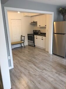 Bachelor apartment on main floor  kitchen, laundry no parking