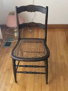 Caned Chair (Antique)
