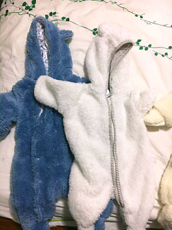 Warm Winter Fluffy Onesies Size 0000 - 000