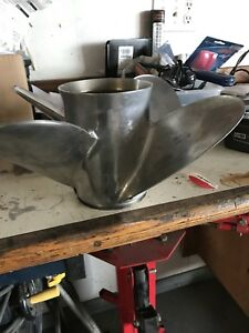 4 blade stainless prop