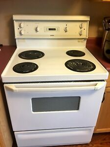 White Clean Electrical Stove