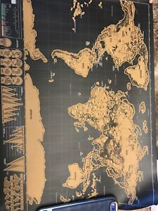 Gold scratch off world map
