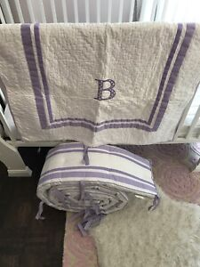 pottery barn, bumpers and skirt