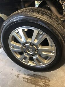 Toyota Tundra 10 rims and tires along with sensors