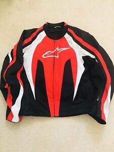 Alpinestars Motorcycle Jacket - Upgraded Back Protector