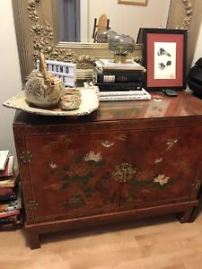 Hand painted Asian cabinet $325