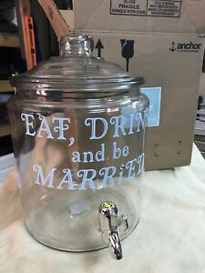 Eat, drink be married glass jug