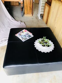 COFFEE TABLE / OTTOMAN (GENUINE  LEATHER)