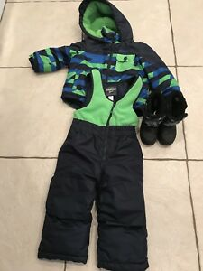Size 2 snow suit and size 7 boots