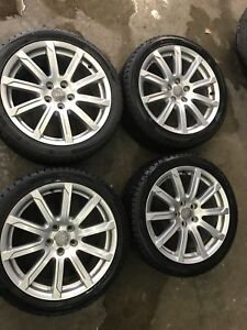 Audie oem A6 winter rims and tires 245/40/18