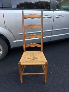 4 ladderback chairs